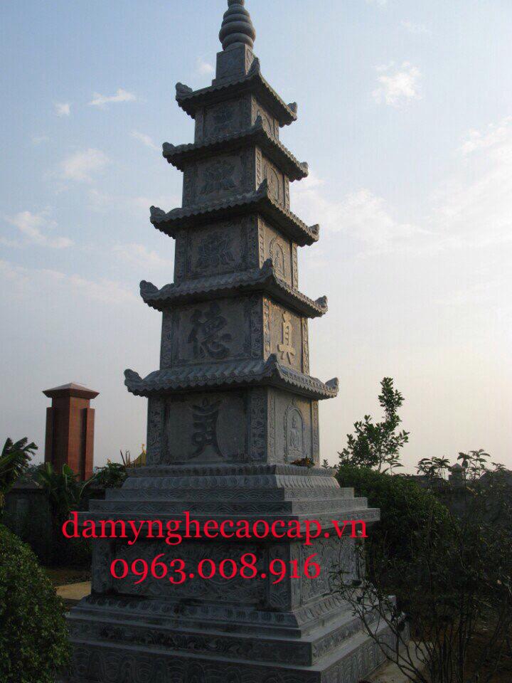 Bảo tháp đá 5 tầng đẹp Ninh Bình