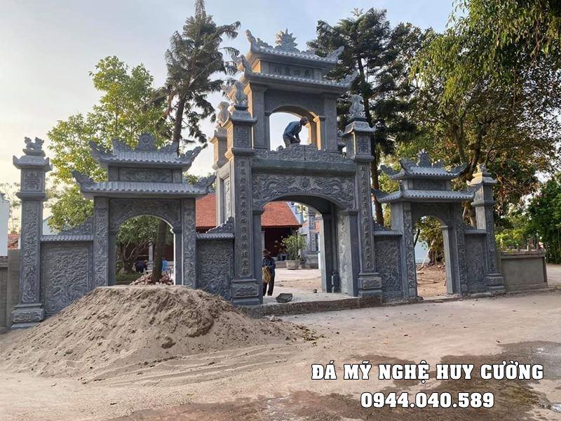 Xây Cổng đá, Cổng tam quan đá cho Nhà thờ tổ, Từ đường, Bảo điện, Đình, Chùa, Làng văn hóa,...