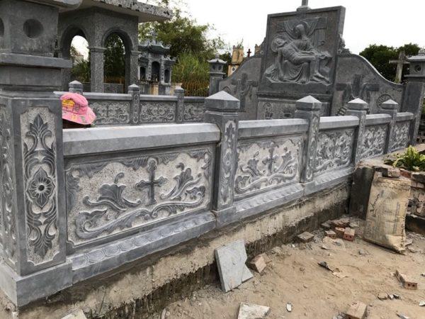 Lan can da cua Khu Lang mo da Cong giao tai Nam Dinh