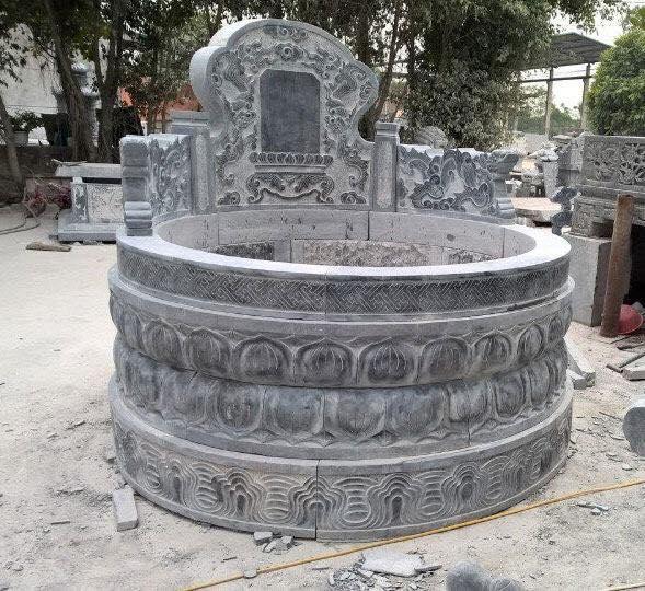 Mẫu Mộ đá tròn Ninh Bình đẹp Huy Cường