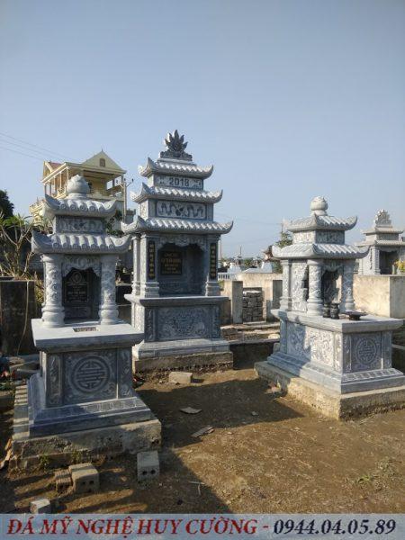 Mộ Đá Hai Mái lắp đặt tại xã Ninh An Ninh Bình
