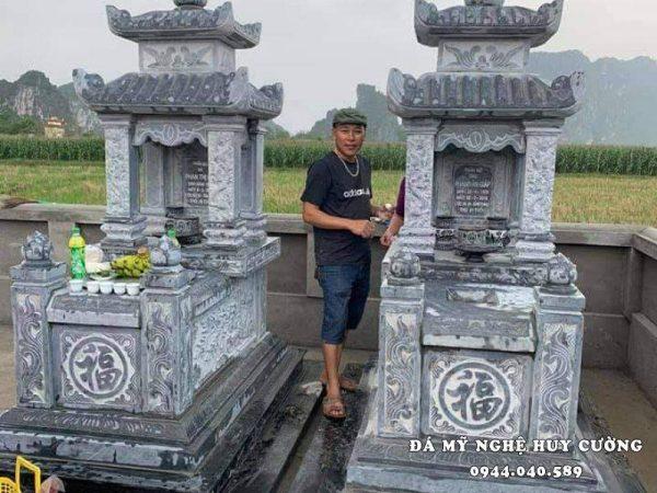 Mẫu Mộ đá hai mái Ninh Bình đẹp