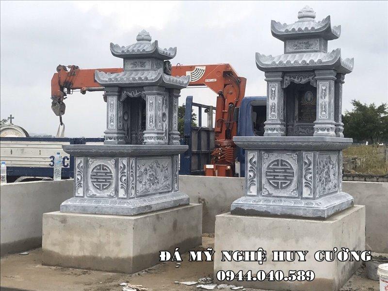 Mộ đá hai mái đẹp Ninh Bình Huy Cường