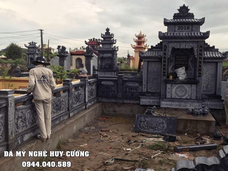 Khuon vien Lang mo duoc bo tri hop ly