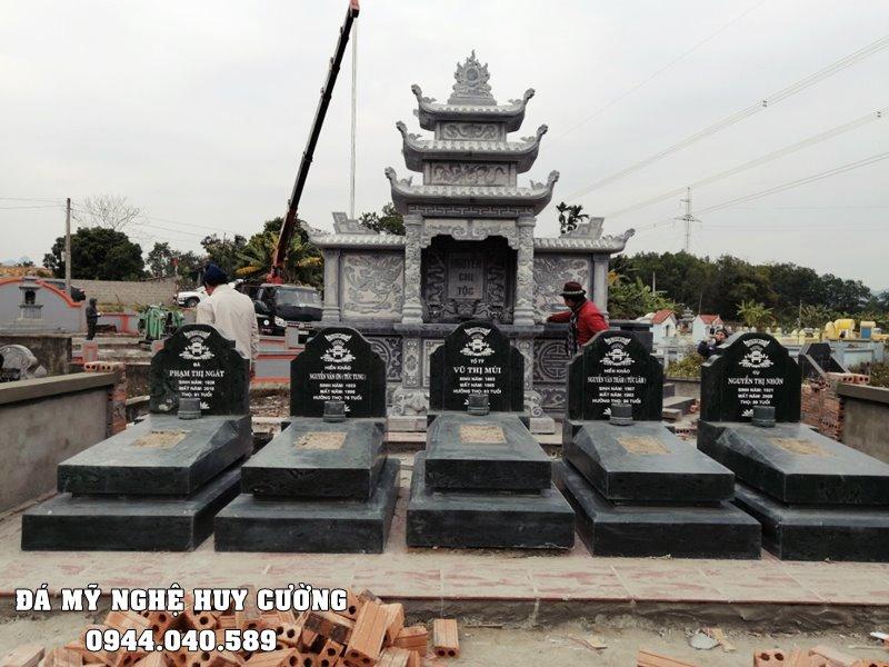 Mau Lang mo da xanh reu Granite kieu moi tai Ninh Binh