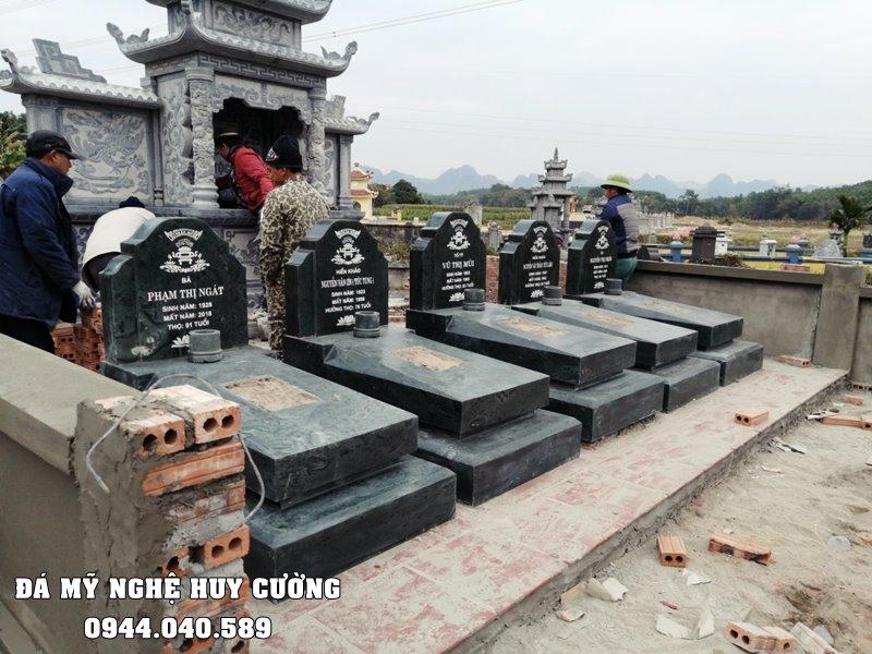 Xay Lang mo da xanh Granite dep Ninh Binh