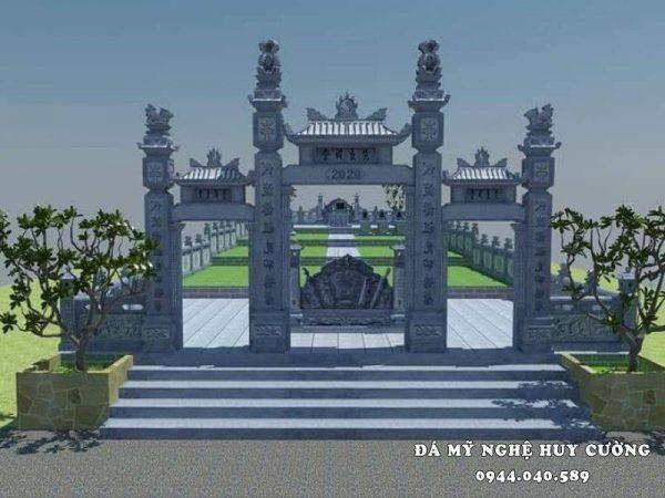 Thiết kế Cổng đá Tam quan cho Khu Lăng mộ đá xanh Ninh Bình