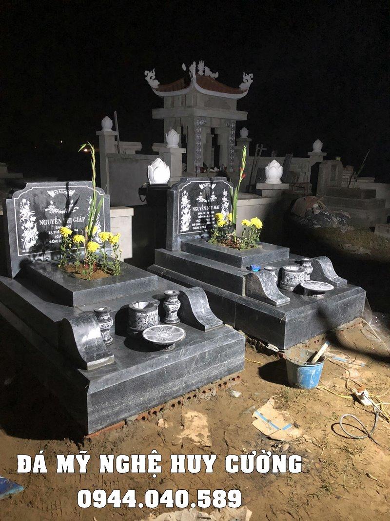 Mẫu Mộ đá xanh rêu - Mộ đá Ninh Bình đẹp.
